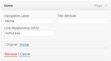 nofollow WordPress Link