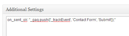 Contact Form 7 Event tracking Set Up