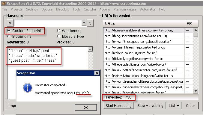 Scrapebox URL Scraping