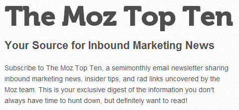 the Moz top ten list