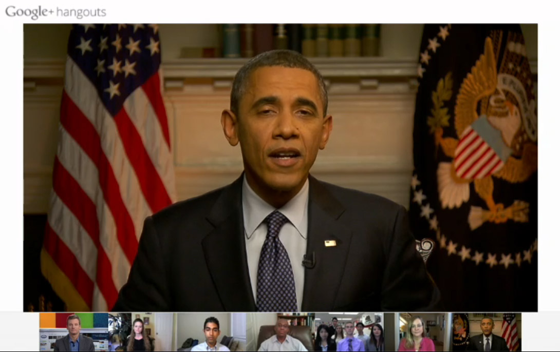 Obama Google+ Hangouts