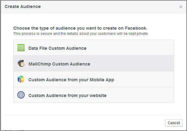 Create an audience from your MailChimp newsletter