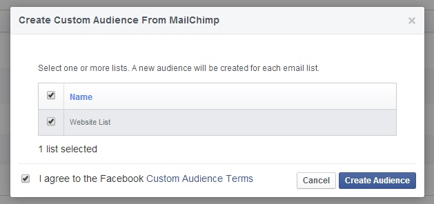Select your list from MailChimp