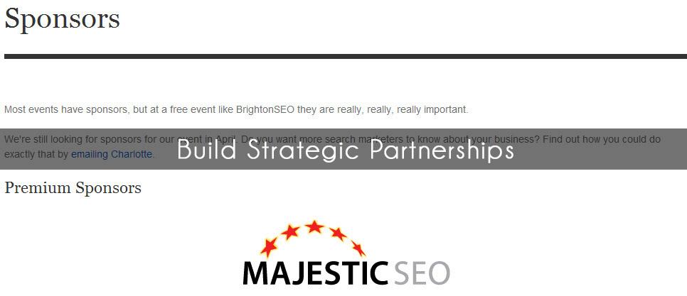 Build strategic partners