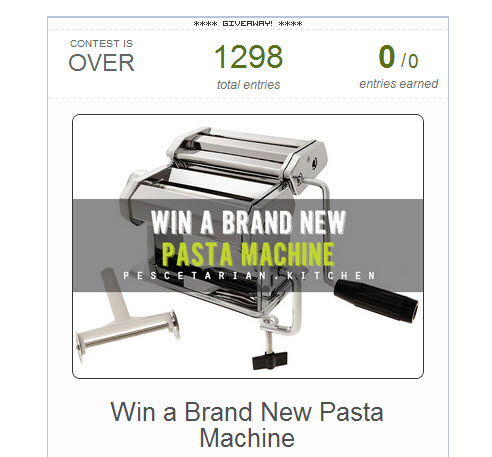 Pasta Machine Competition