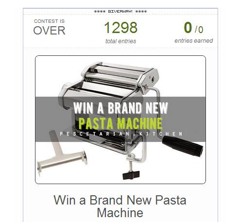 Pasta Machine Competition