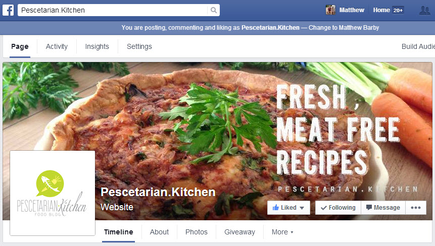 Pescetarian Kitchen Facebook
