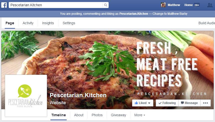 Pescetarian Kitchen Facebook