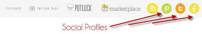 Social profile links