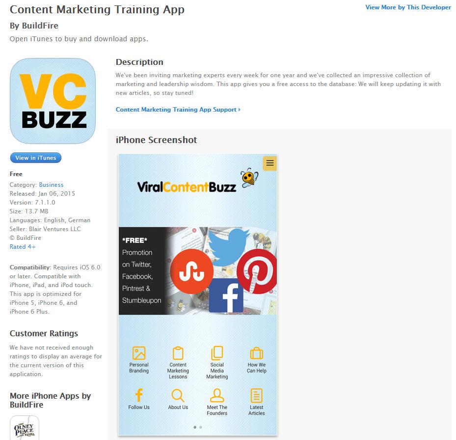 Viral Content Buzz app