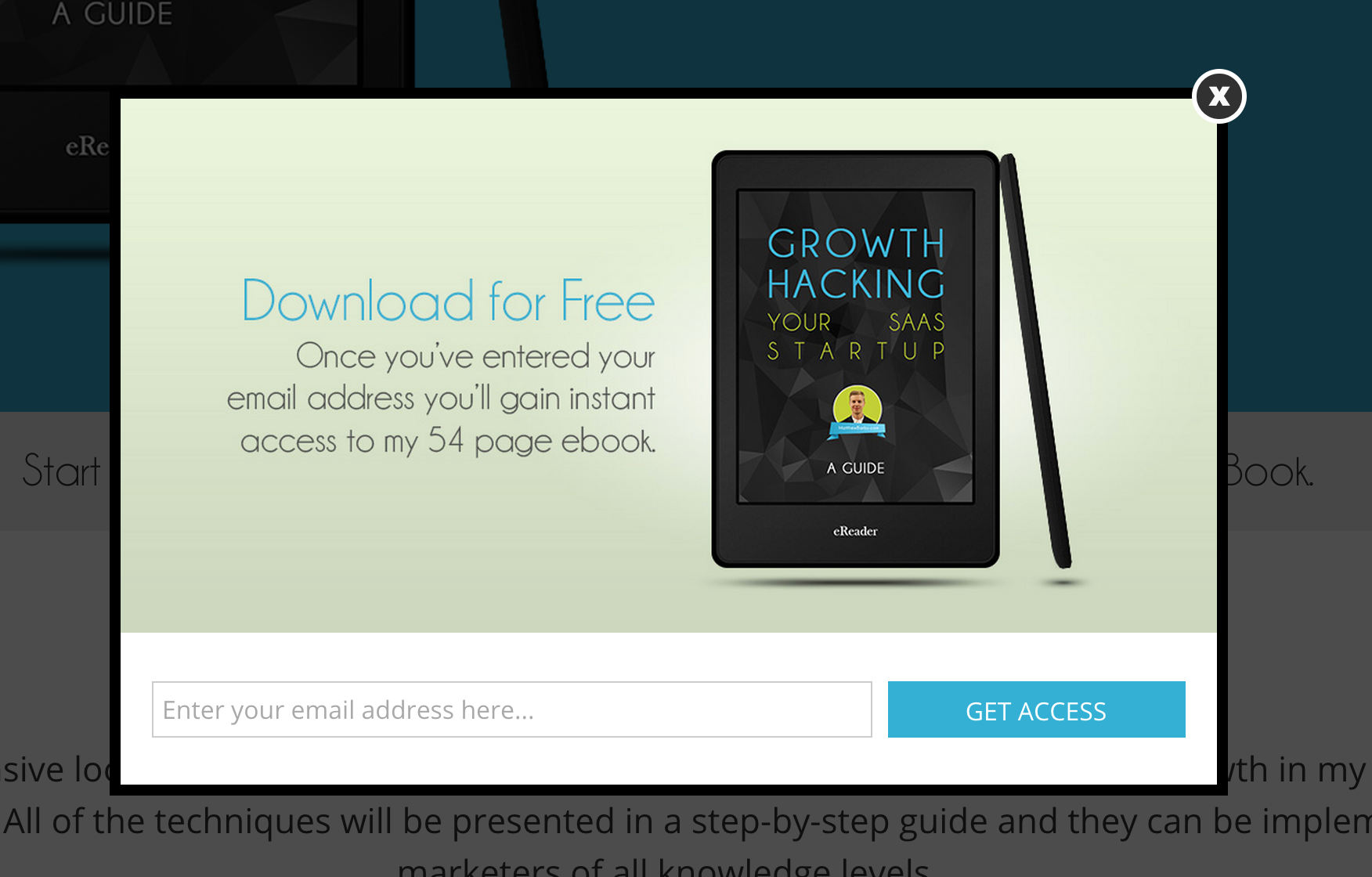 Growth Hacking eBook CTA