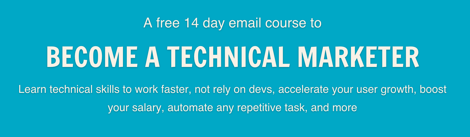Programming for Marketers 14 day free course