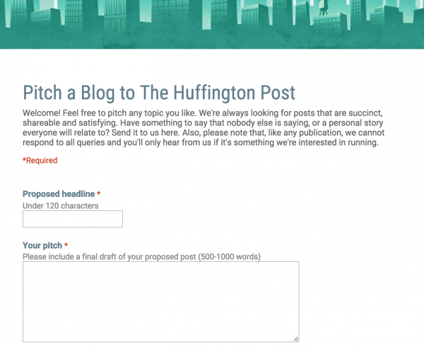 Huffington Post Pitch