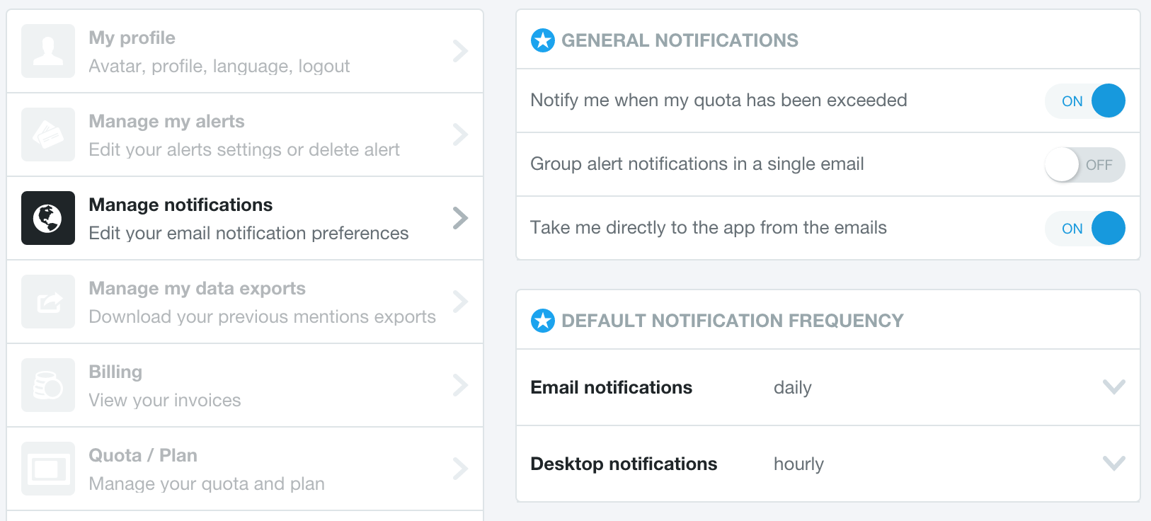 Mention email alerts