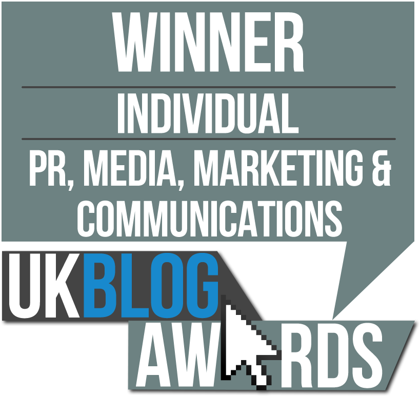 2016 UK Blog Awards PR, Marketing, Media & Communications Winner
