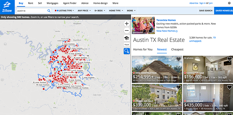 Zillow Location-Specific Landing Pages